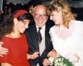 Paolo Cirino Pomicino con le figlie Claudia e Ilaria