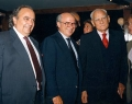 Paolo Cirino Pomicino e Alberto Moravia,