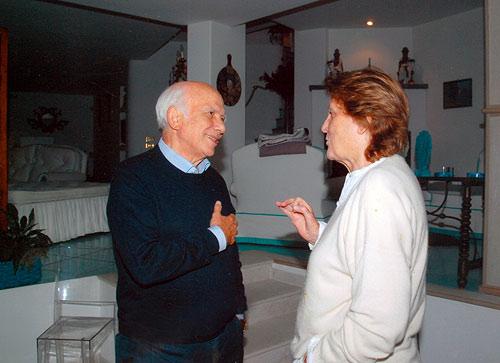 Con la regista Liliana Cavani nella casa di Peppino Di Capri