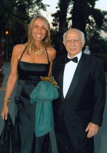 Paolo Cirino Pomicino con la sua compagna Lucia Marotta